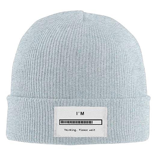 Unisex I m Thinking Please Wait Popular Wool Hat Woolen Cap Smart Cap  Fashion For 12bdab3c4c2