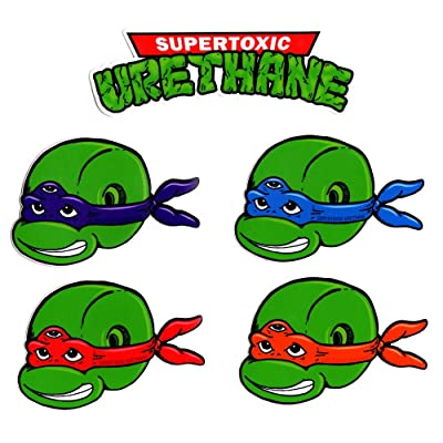 Super toxiques – en uréthane Planche Sticker Pack New Teenage Mutant Tortues Ninja