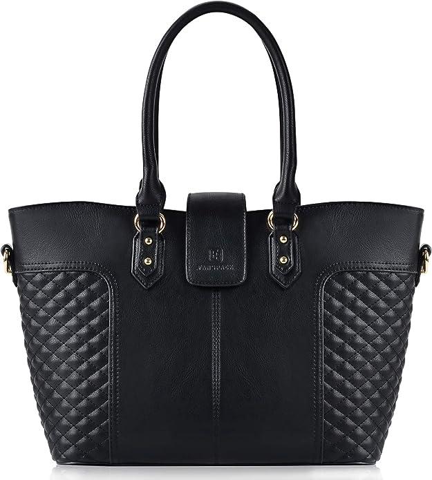 Shopper Handtasche Leder Schwarz Elegant Umhängetasche Groß