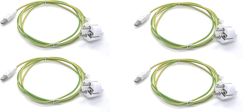 Cable USB de toma a tierra – Pack de 4