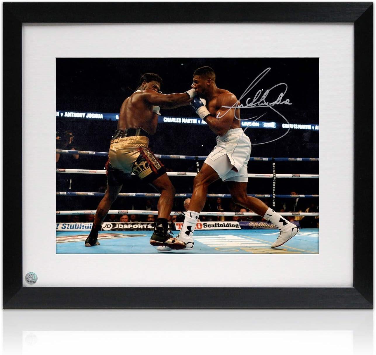 Anthony Joshua firmada y enmarcada Foto: La lucha contra Charles Martin: Amazon.es: Deportes y aire libre