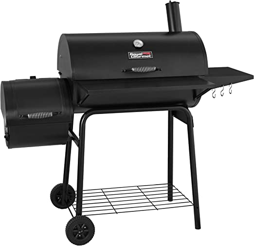 """Amazon.com : Royal Gourmet 30"""" BBQ Charcoal Grill and Offset Smoker   800 Square Inch cooking surface, Outdoor for Camping   Black, CC1830S model : Garden & Outdoor"""