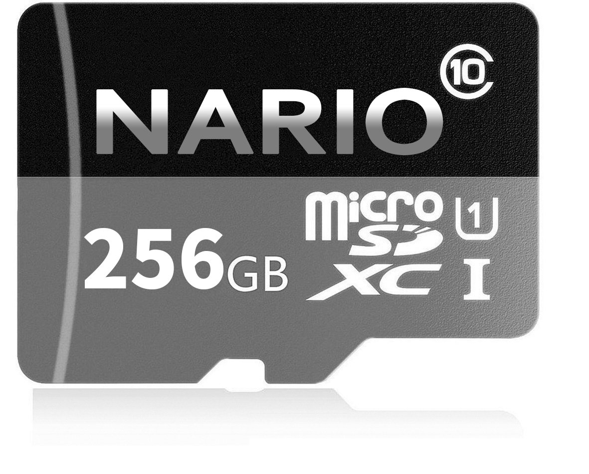 NARIO 256GB Micro SD SDXC Card High Speed Memory Card With SD Card Adapter