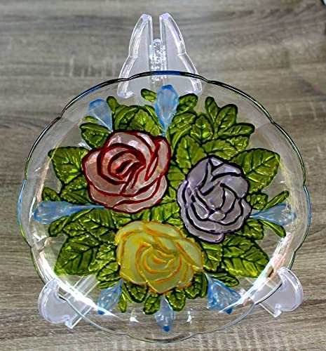 Amazoncom Stained Glass Painting Painted In Recycled Flower Glass