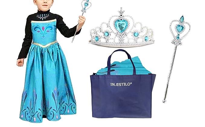 8ef4f3cbb2088 Amazon エルサ ドレス 子供 戴冠式 衣装 点セット(ドレス ティアラ 王冠スティック in・