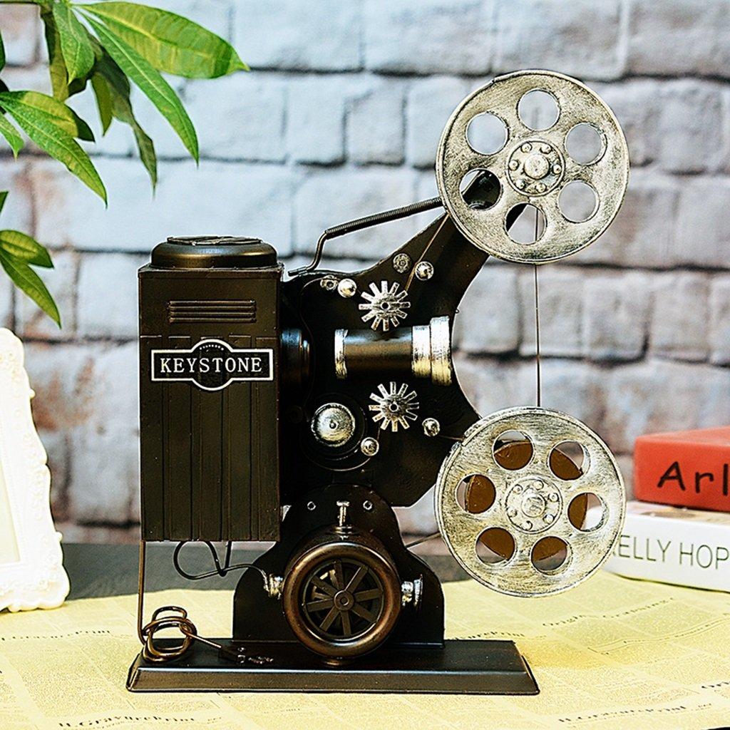 Decorazione proiettore Vecchio stile Nostalgia Girl Fotografia Props Coffee Shop Vetrina Tatuaggi (Colore : Nero) dare la precedenza