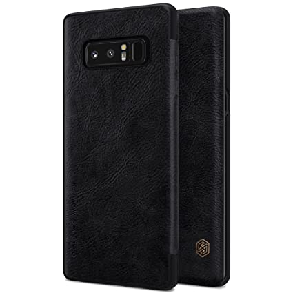 Leather Nillkin Note Case Samsung For Flip Black Series Galaxy - 8 Cover Royal Qin