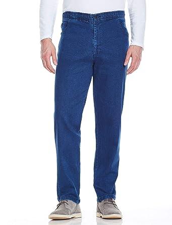 91d0b55b0 Chums Mens Elasticated Waist Drawcord Denim Trouser Pants Jeans:  Amazon.co.uk: Clothing