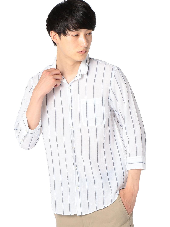 (シップス) SHIPS ワイシャツ SU: 【COOL MAX】リネンシャツ ワイヤー 7スリーブ 111310192 B07CYJLF8J 日本 S-(日本サイズS相当)|Off White2 Off White2 日本 S-(日本サイズS相当)