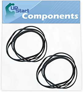 2-Pack 341241 Dryer Drum Belt Replacement for Whirlpool WGD5200VQ0 Dyer - Compatible with 8066065 Belt - UpStart Components Brand