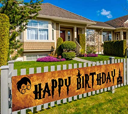 Large Banners /& Garlands Happy Birthday Giant Bday Party Sign Huge Outdoor Home