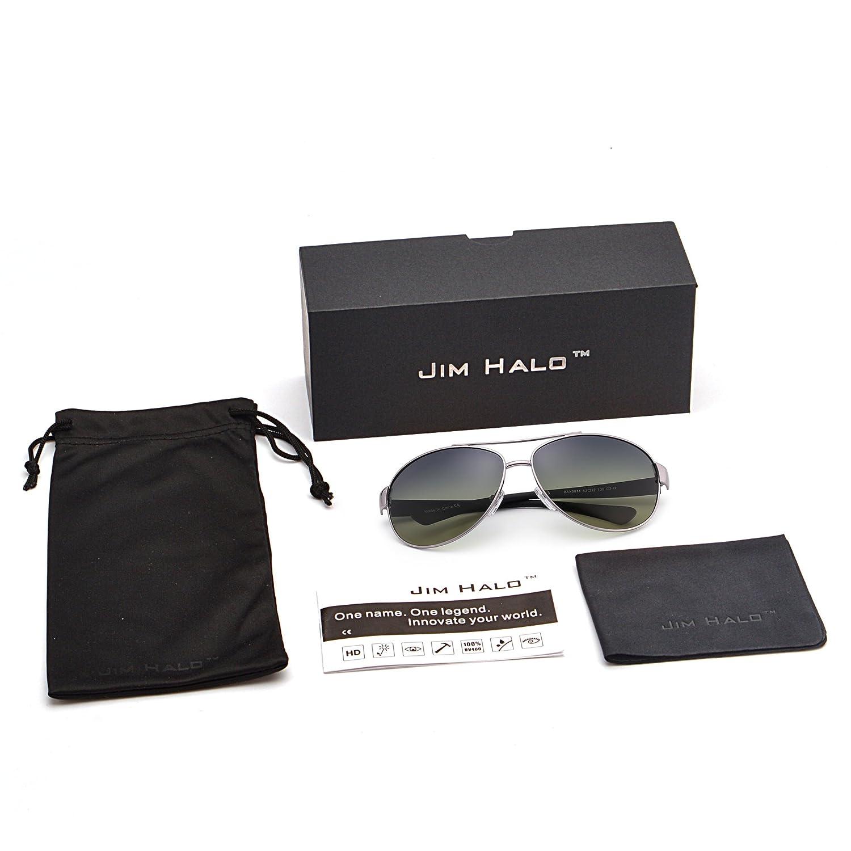 JIM HALO Gafas de Sol Polarizadas Aviador Lentes de ...