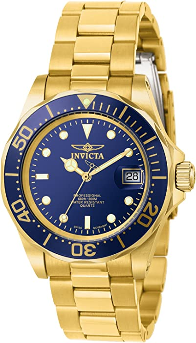 Invicta Mens 9312 Pro Diver Gold-Tone Stainless Steel Watch with Link Bracelet