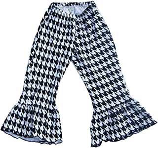 product image for Cheeky Banana Baby/Toddler Girls Houndstooth Ruffle Pant Black & White