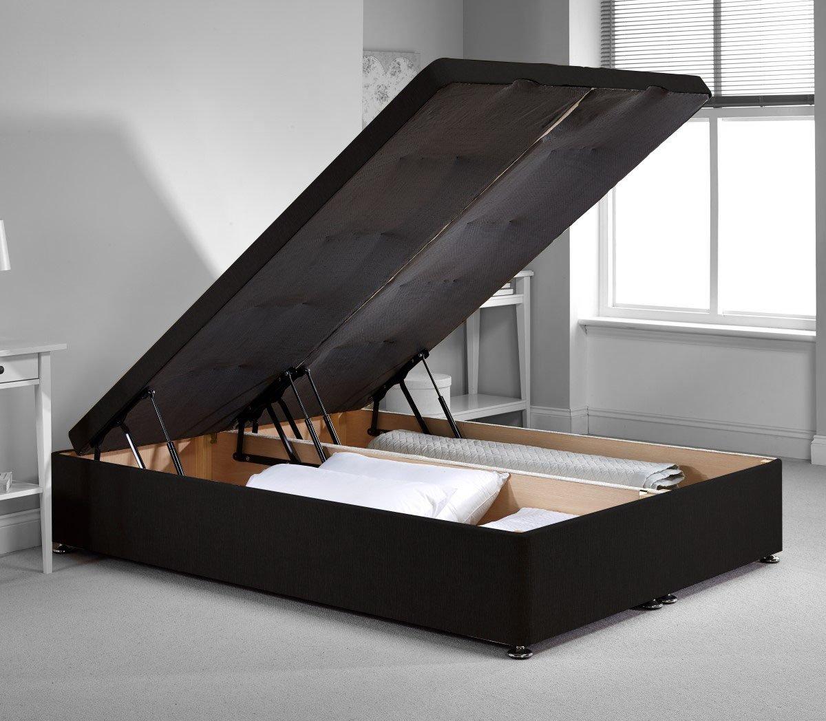 richworth Diván cama otomana marco - negro felpilla tela - Único - 3 ...