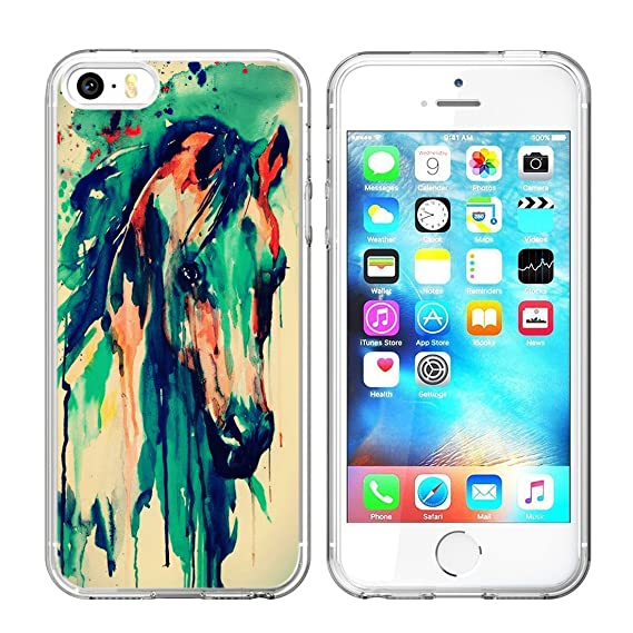 super popular 07aed 1cb8d iPhone SE / 5S / 5 Case, Jolook 360 Full Body Protection Slim Case with  Design for Apple iPhone SE / 5S / 5 - Printing Ink of Horse