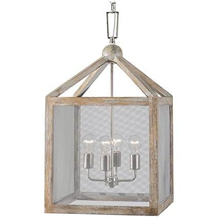 Amazon uttermost 22050 nashua 4 light wooden lantern pendant uttermost 22050 nashua 4 light wooden lantern pendant mozeypictures Image collections