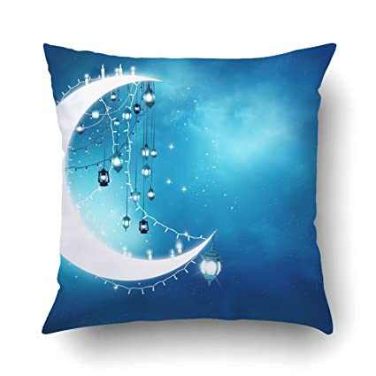 Emvency Pillow Covers Decorative Islamic Greeting Eid Mubarak Muslim Holidays Eid Ul Adha Festival Celebration Bulk