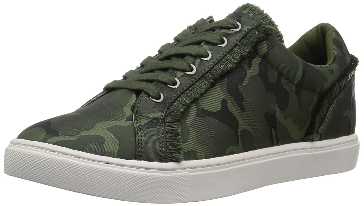 The Fix Womens Tinsley Frayed Silk Lace-up Sneaker B074K4NFS3 9 B(M) US|Autumn Green Camo Satin