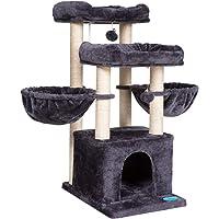 Hey-hermano Árbol de gato de tamaño mediano para 3 gatos uso con condominio de lujo, torre de gato con 2 perchas…