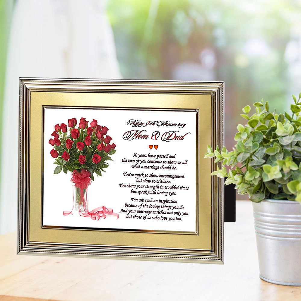 Amazon Mom And Dad Gift For 50th Anniversary Parents