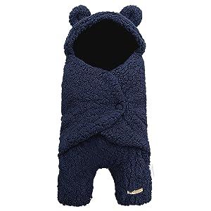 BlueSnail Newborn Receiving Blanket Baby Sleeping Wrap Swaddle(Navy)