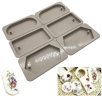 Moldes de silicona para hacer joyas artesanas de resina, con orificio Oval dimand Square: Amazon.es: Hogar