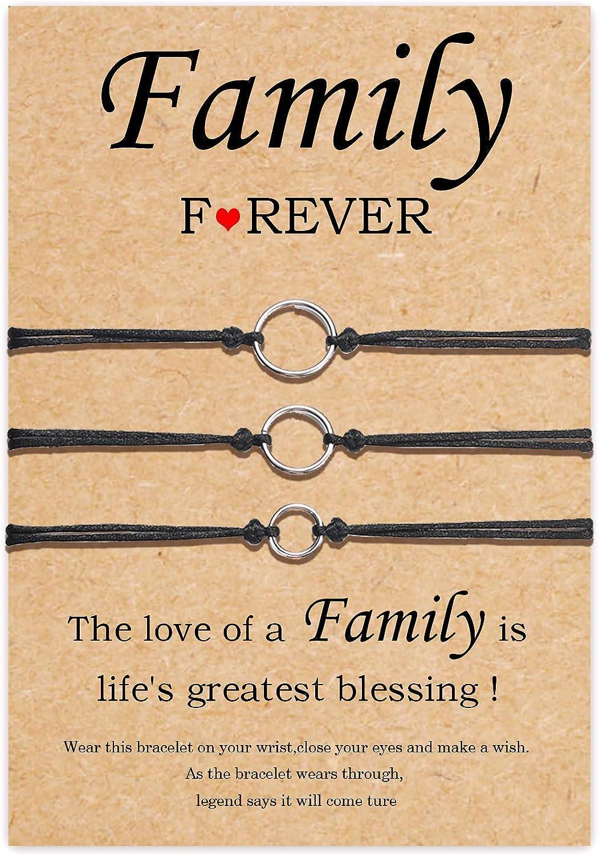 Tarsus Generations Bracelet for Best Grandma Gifts from Daughter Handmade Cord String Bracelet Jewelry Gift for Women Teen Girls