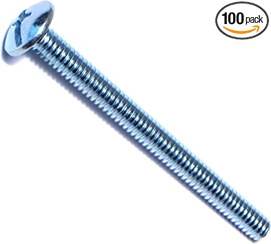 #10-24 x 1-3//4 Round Head Combination Slotted//Phillips Machine Screw 100 pk.