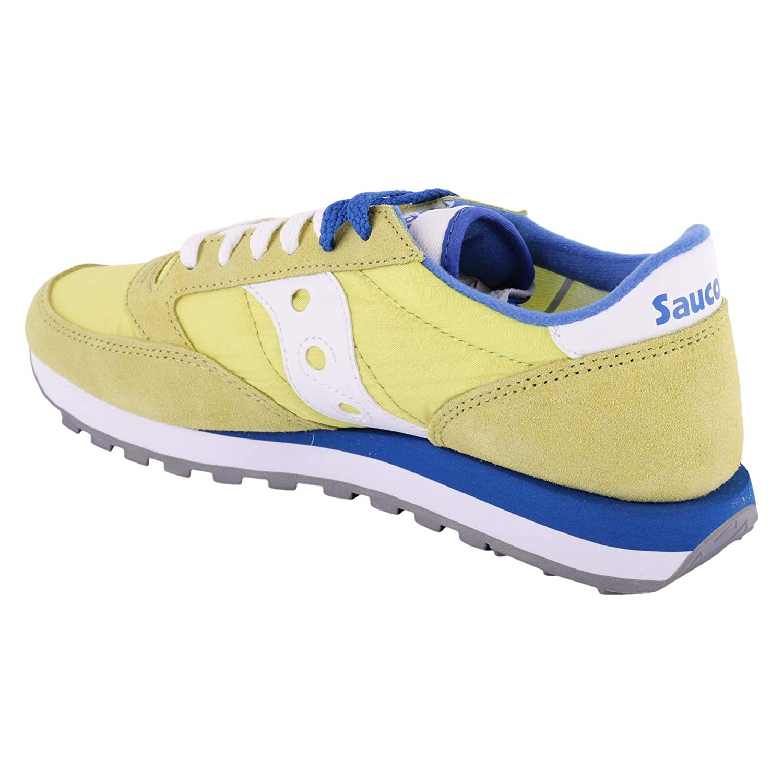 SAUCONY scarpe sneaker uomo JAZZ ORIGINAL S2044 450 giallo blu 42 eu 8.5 us 7.5 uk