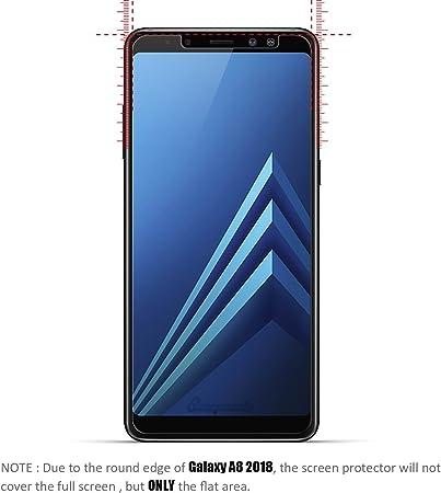 Leathlux Funda + Cristal para Samsung Galaxy A8 2018, Transparente ...