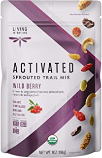 product image for Living Intentions Organic Wild Berry Trail Mix – NonGMO – Gluten Free – Vegan – Paleo - 7 Oz