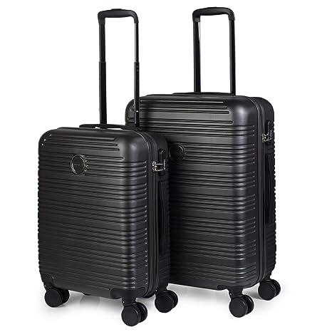 ITACA - Juego Maletas de Viaje Rígidas 4 Ruedas Trolley 55/65 cm ABS.