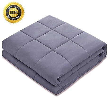 Amazon.com: SUNVIOR - Manta pesada para cama con material de ...