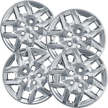 Tapacubos para Dodge Caravan, fundas para ruedas de viaje (4 unidades) - 17 pulgadas cromado de repuesto: Amazon.es: Coche y moto