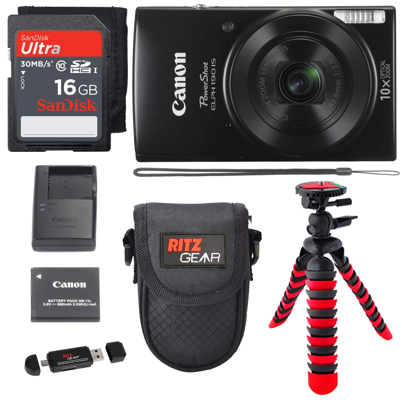 Canon PowerShot ELPH 190デジタルカメラ  ブラック B0779LN437