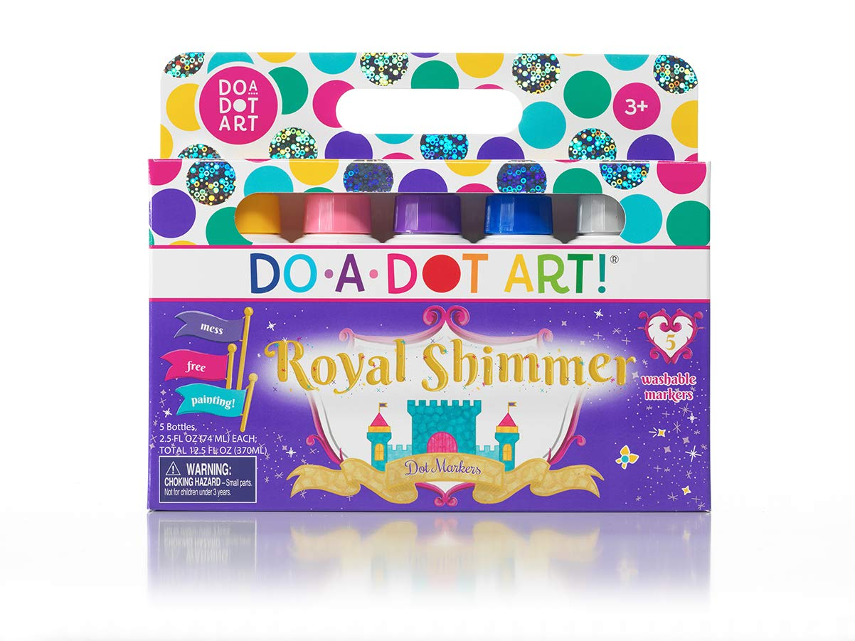 Do A Dot Art! Markers 5-Pack Shimmer Washable Paint Markers, The Original Dot Marker by Do A Dot Art