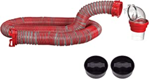 Viper 15-Foot RV Sewer Hose Kit, Universal Sewer Hose for RV Camper, Includes 15-Foot Hose with Rotating Fittings, 90 Degree ClearView Sewer Adapter and 2 Drip Caps