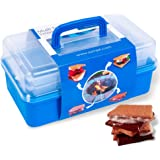 SUMPRI Smores Caddy -Two Folding Trays Smore Storage Box (Does NOT Include Skewers) Keeps Your Marshmallow Roasting…