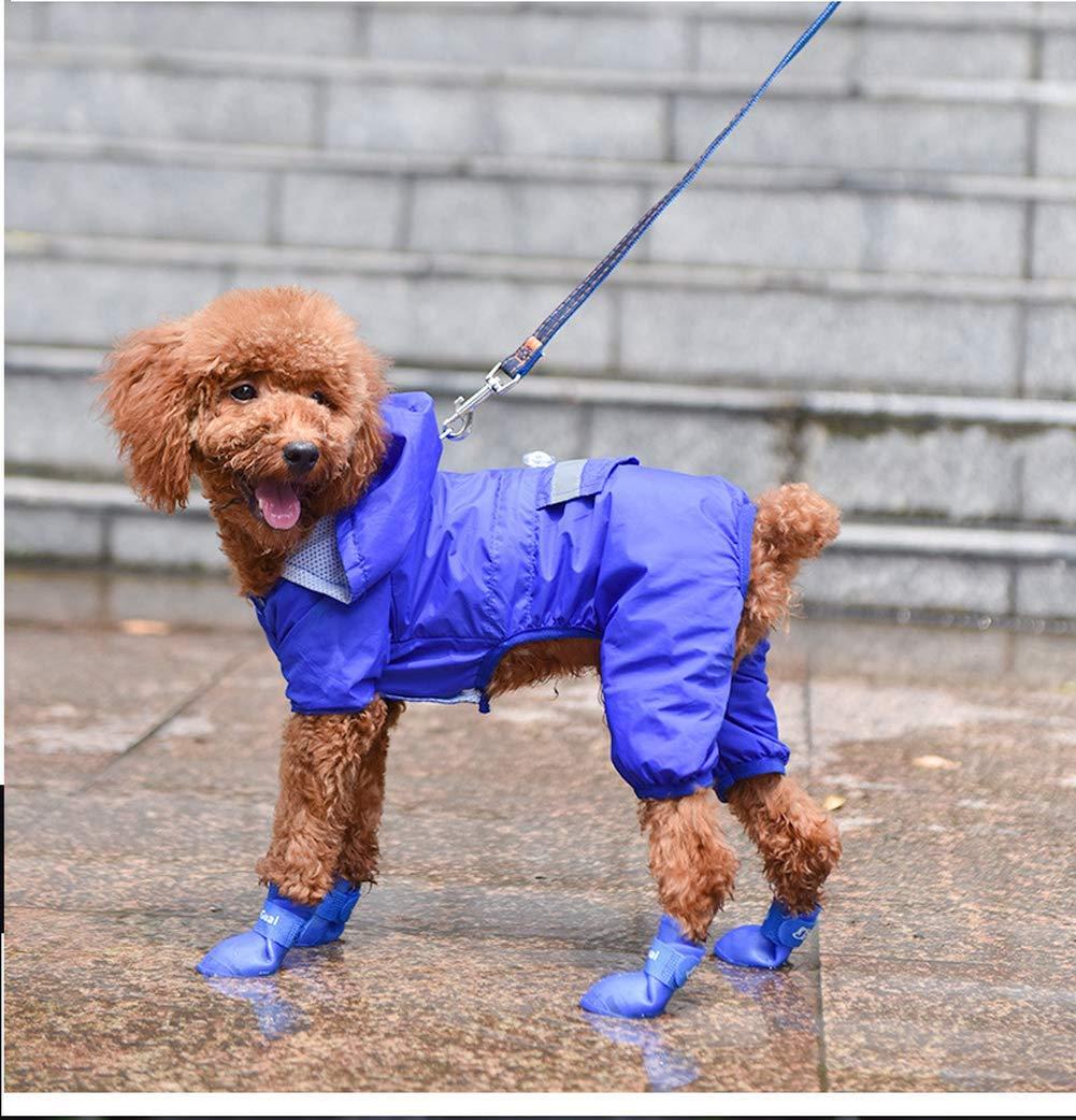 Yevison Pet Silicone Rain Boots Fashion Soft Bottom Non-Slip Waterproof Shoes