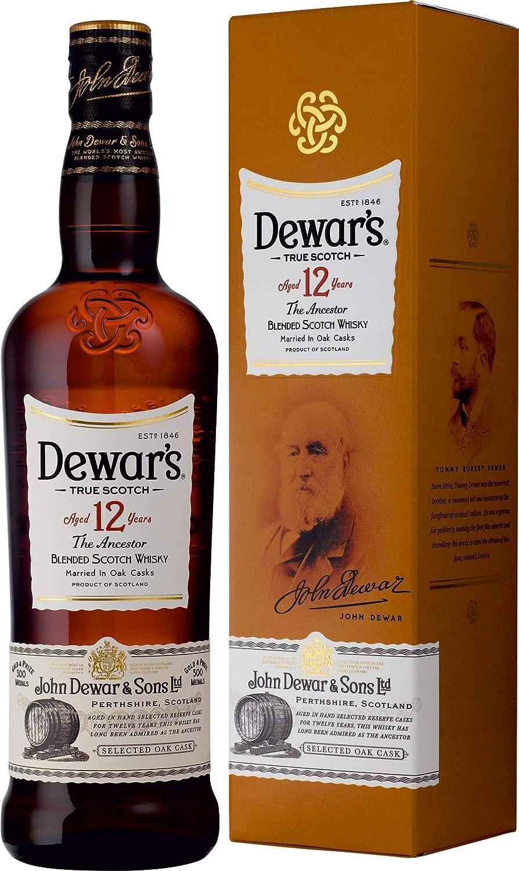 Dewars Whisky Escocés 12 años - 700 ml: Amazon.es: Alimentación y bebidas