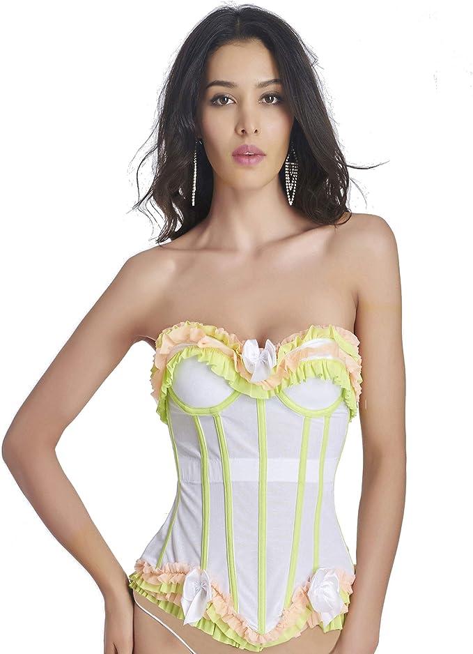 Queenral Burlesque Corset Top Bustiers Gótico Camisa de Fuerza Steampunk Corset: Amazon.es: Ropa y accesorios