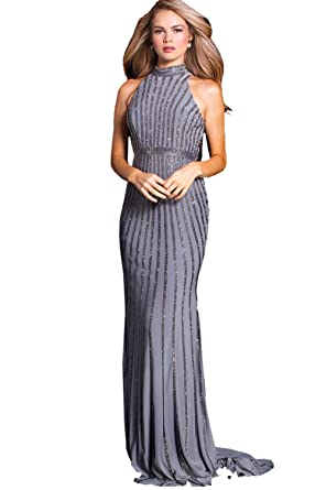 Jovani Prom 2018 Dress Evening Gown Authentic 56001 Long Gunmetal