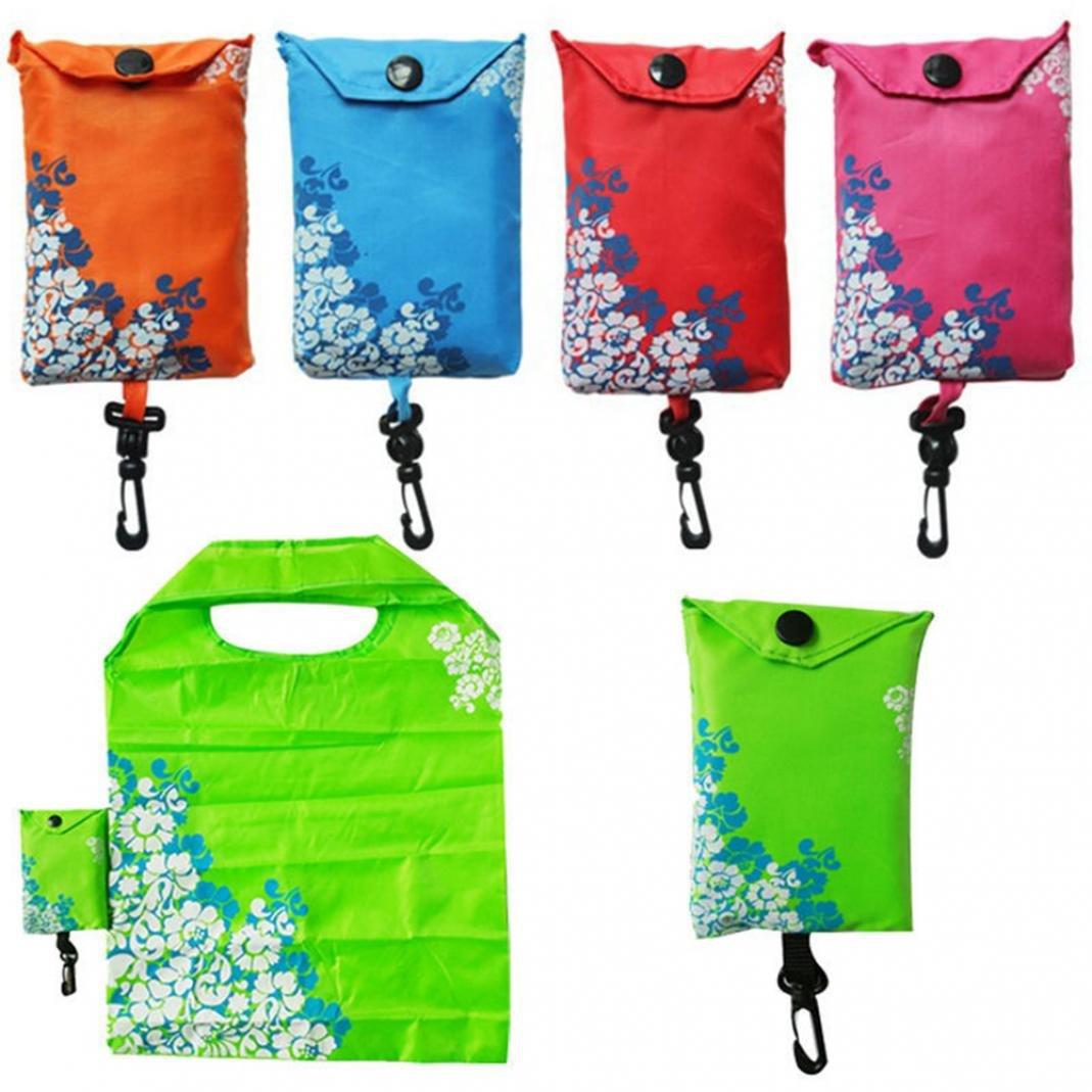便利折り畳み式ショッピングバッグ再利用可能なトートバッグポーチ旅行RecycleストレージバッグGroceryハンドバッグ省スペース洗濯可能forショッピング旅行アウトドア B07C533X99