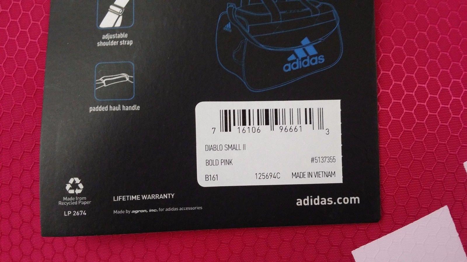 adidas Diablo Duffel Small (Bold Pink/Black/White) by adidas (Image #3)