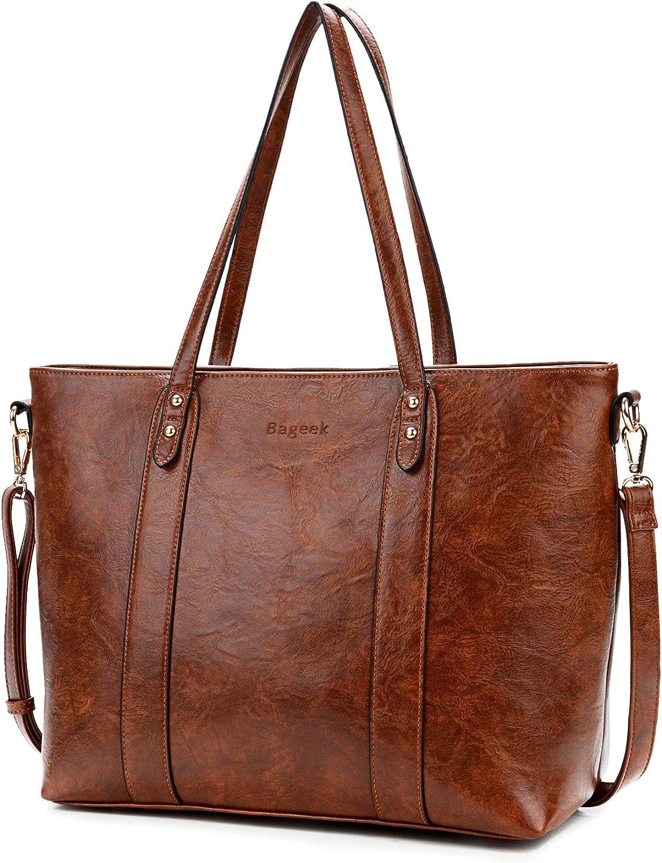 Bageek Handtasche Damen Shopper Handtasche Braun Damentaschen Groß Designer Taschen PU Leder Handtasche: Amazon.de: Koffer - Tasche Cognac