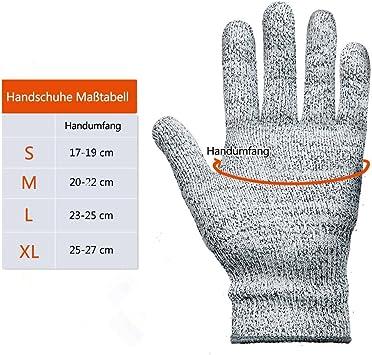 Austern und K/üchenarbeiten Lebensmittelqualit/ät CustomGrips Schnittfeste Handschuhe Stufe 5 h/öchste Schutzsicherheitshandschuhe hohe Leistung zum Schneiden von Fleisch klein