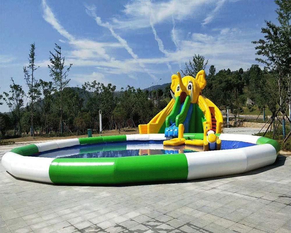 JYNsell Piscina Inflable Redonda al Aire Libre Piscina Parque de ...