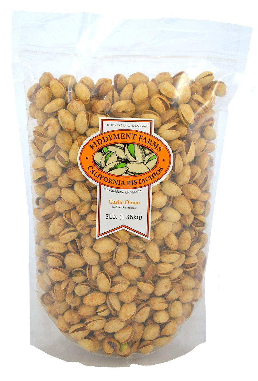Fiddyment Farms 3lb Garlic Onion In-shell Pistachios