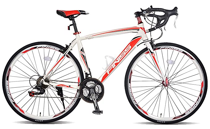 Merax Finiss Aluminum 21 Speed 700C Racing Road Bicycle